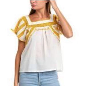 Tops - NWT BALLY EMBROIDERED TOP.